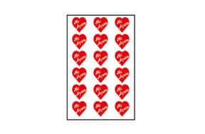 "RED HEARTS STICKERS ""WITH LOVE"""